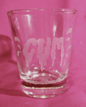 XXX shot glass -c*m-