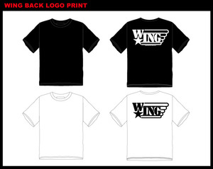 WING BACK PRINT LOGO T-SHIRTS