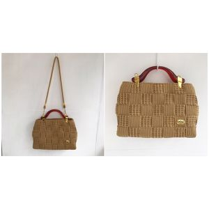 vintage straw shoulder & hand bag