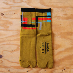【The Athletic x SimWorks】 Tabby Socks / Saffron