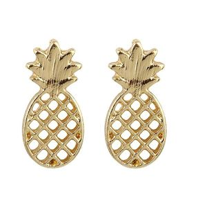 Metal Fruit PINEAPPLE Post Pierce (EE0072)