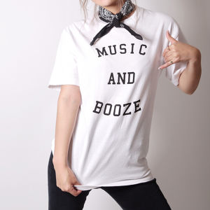 MUSIC AND BOOZE Tee(white)