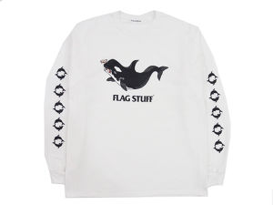 """KILLER WHALE"" L/S T-SHIRT  WHITE"