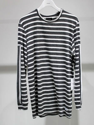 STAMPD Heather Stripe L/S Tee