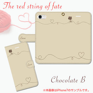 The red string of fate〜運命の赤い糸〜 チョコB 手帳型スマホケース iPhone/Android
