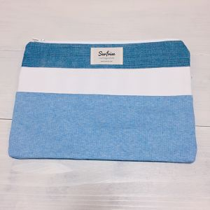 【6/17販売】Denim clutch bag R8(Light Blue)