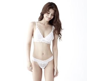 """Bouquet"" Bralette -White-"