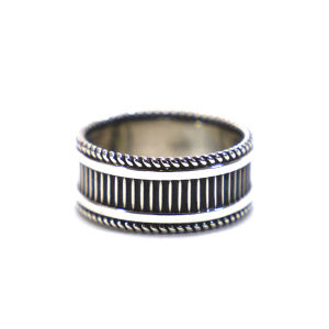 Navajo Sterling Silver Line Ring by Ron Yazzie