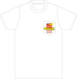 SOULポケットTシャツ Body:[White] Print:[Red/Yellow/Black]