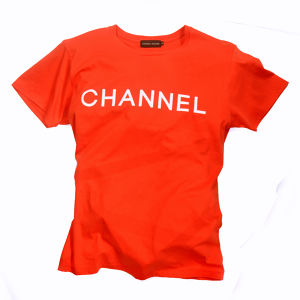 CS-CHANNEL-TEE-BRITE RED