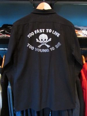 L/Sシャツ TOO FAST TO LIVE TOO YOUNG TO DIE