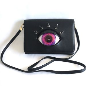 eye shoulder bag / violet pink