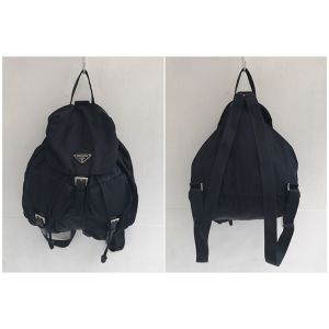 PRADA nylon darknavy color back pack