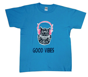 GOOD VIBES turquoise blue