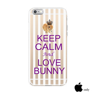 【KEEP CALM and LOVE BUNNY】クリア