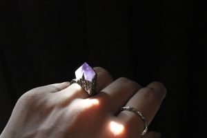 Amethyst Cliff Ring.