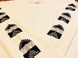 """GEAR"" long sleeve T-shirts(White)"