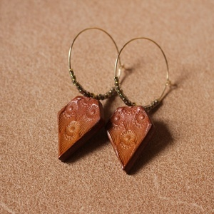 レザーフープピアス Leather Foop Pierce (lfp-01)