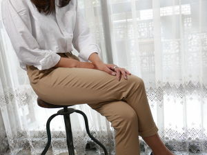 Ladys, CL002  8th Trousers (エイトトラウザース) ベージュ