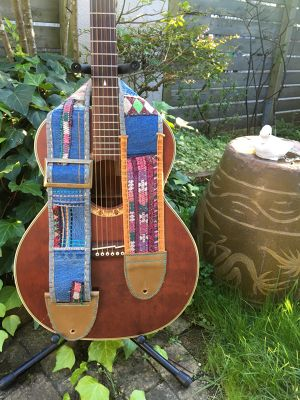 vintage embroidery guitar strap