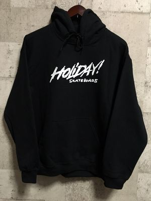 HOLIDAY! SKATEBOARDS ロゴパーカー (黒)