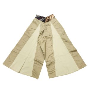 【SALE】circa make switching chinocloth wide pants / BEIGE