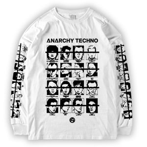 ANARCHY TECHNO / ロングスリーブ T-SHIRT - 001