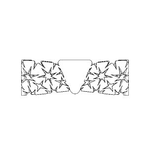 Auxetic pattern Bow tie_White