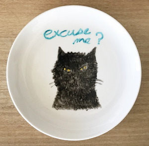 Excuse me? CAT plate くろねこ