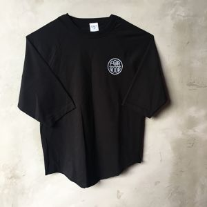 YONZY [FOuR GOOD] ラグランTシャツ designed by hemlen BLACK