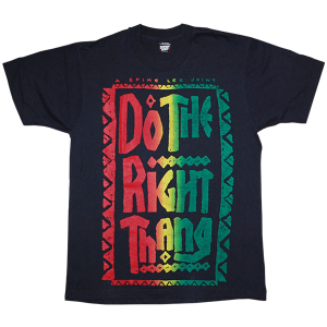 """Do The Right Thing"" Bootleg Vintage Tee Used"