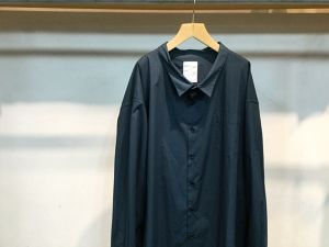 "WHOWHAT""5X SHIRT <LONG> SMOKY BLUE"""