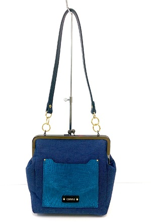 【SALE 20%OFF!】■Denim Gamaguti Bag■デニムがま口バッグ
