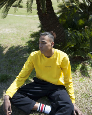 Graphic L/S T-Shirts (Yellow)