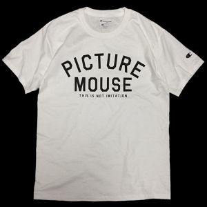 PICTURE MOUSE■not imitation Tsh(WHITE)