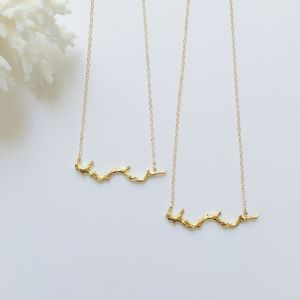 Gold coral necklace