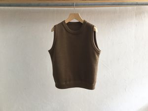 """Womens crepuscule """" Lowgage MossStitch Vest """" Brown"""
