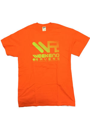 [一点物]WEEKEND RAVERS V.6 T-SHIRT M SIZE(Orange / Lime)