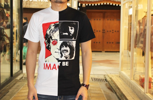 (The Beatles) Remake Band T-Shirt Half & Half / TRIANGLE