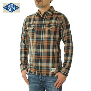017003002(WESTERN CHECK SHIRTS)ORANGE