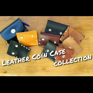 LEATHER CASE / vintage coin bottom