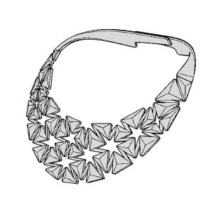 Auxetic pattern Neckless_Gray