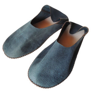 TOKYO Lether slippers HEIWA [Blue suède] Chrome-free