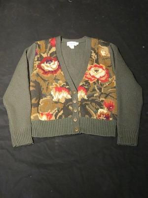 80's Flower Pattern Cardigan