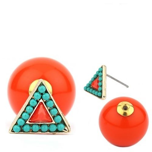 Triangle and Plane Acrylic Ball Piearce (FE1258)