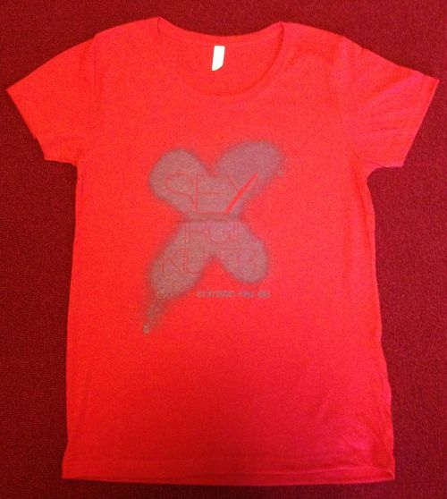 【Dead Stock】crimson red ep Tee Shirts  (Body Color : Red)