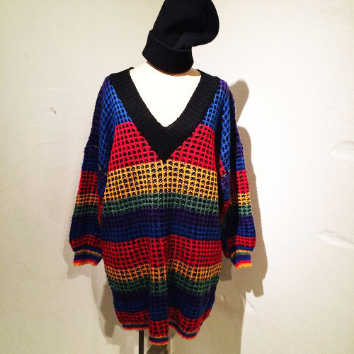 Colorful Knit One-Piece