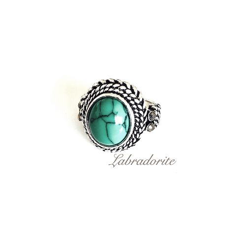 Turquoise green ring