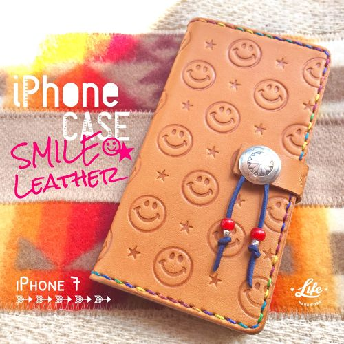iPhone 7 CASE 36 / SMILE Leather & ☆