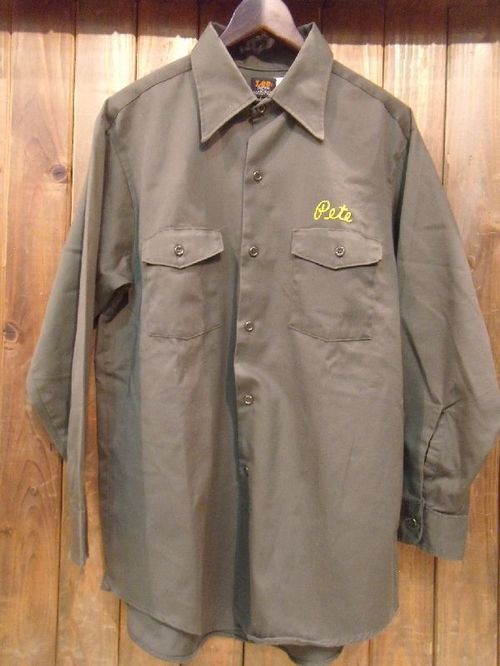 Vintage★70's【Lee CHETOPA-TWILL】Work-Shirt